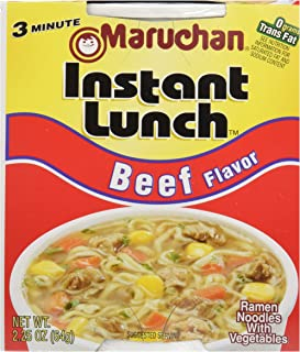 Maruchan Instant Lunch Beef Flavor Soup, 2.25 Ounce