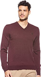 Fred Perry Mens CLASSIC V NECK SWEATER Pullover Tops