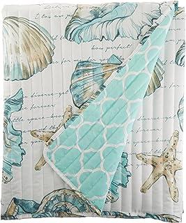 Barefoot Bungalow Cruz Coastal Throw Blanket, 50x60 inches, White