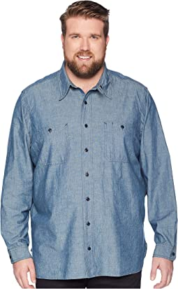 90569adf Isaacs. 8. Polo Ralph Lauren. Big & Tall Chambray Utility Sport Shirt