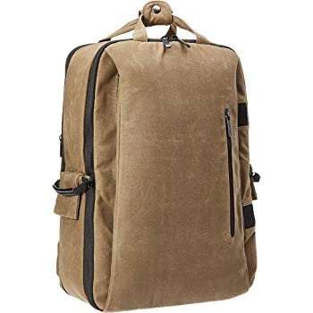 AmazonBasics Vintage Camera Backpack for Pro DSLR and Laptop- Vintage Wax Canvas - Brown