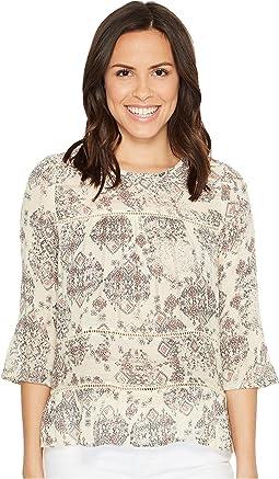 Lucky Brand - Ruffle Print Shirt