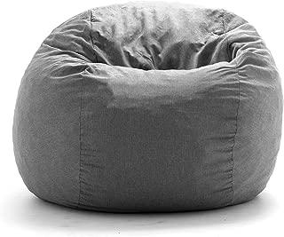 Big Joe King Fuf Gray Union Foam Filled Bean Bag,