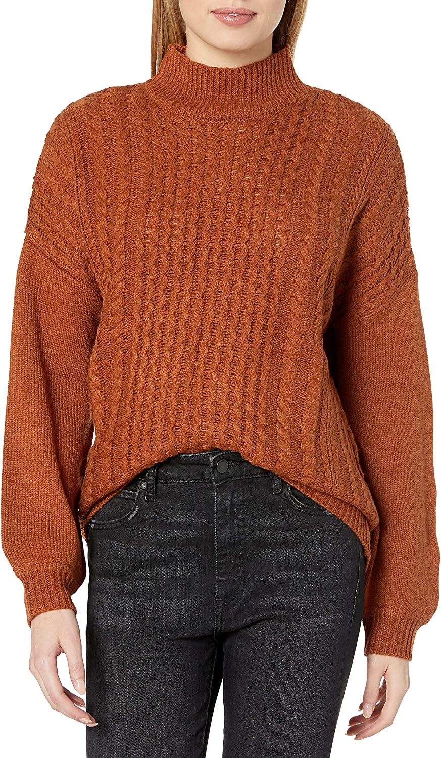 Today's only William Rast Women's Mila Pullover Neck Louisville-Jefferson County Mall Sweater Mock