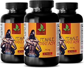 Women Sexual Supplements - Female Fantasy (LIBIDO Boosting Formula) - Horny Goat Weed Capsules Natural - 3 Bottles 180 Tab...