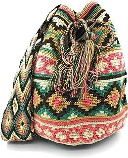 Bolsos Colombianos Artesanales de diseño unico, mochila Wayuu tanto para mujer como para hombre.