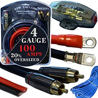 20 Foot 4 Gauge Amp Kit Featuring 20% Oversized Cables - Complete 12V Audio Amplifier Installation & Wiring Kit