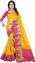 SAARAH Women Kanjivaram Art Silk Saree (N4090YP, Yellow)
