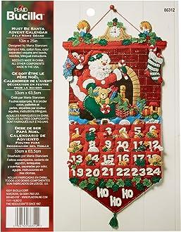 Juego de apliques de fieltro para colgar en la pared 29.84 x 22.86 x 7.87 cm Bucilla Felt Applique Wall Hanging Kit Merry and Bright multicolor no aplicable