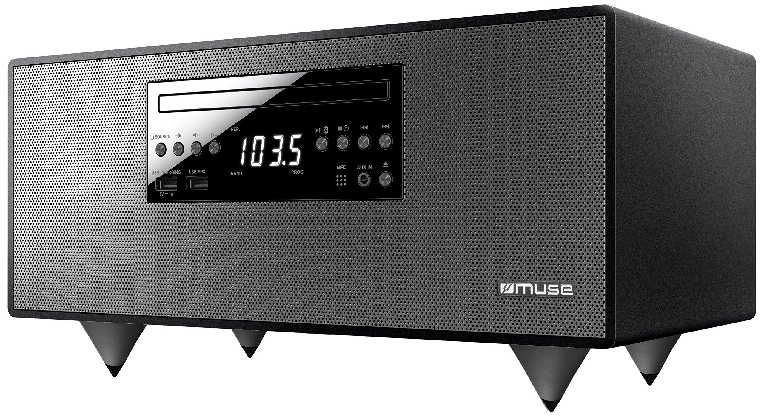 Muse M-690BTC Sistema estéreo portátil Digital 60 W Negro - Radio CD (Digital, FM, 87,5 - 108 MHz, Jugador, CD,CD-R,CD-RW, Frente): Muse: Amazon.es: Electrónica