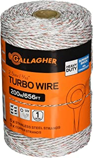 Gallagher G620544 Electric Turbo Wire Fence, 656-Feet, White
