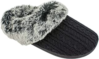 Women's Memory Foam Slippers, Winter Warm Slip On Scuff Clogs, Multiple Colors Available,Women's Size 5 to 10