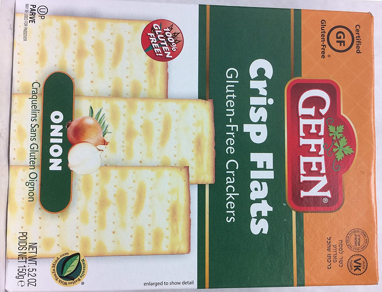 Gefen Crisp Flats Gluten Free Onion Many popular brands Mesa Mall Matzo Passover Crackers
