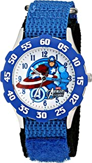 Marvel Kids' The Avengers Captain America W001538 Analog Display Analog Quartz Blue Watch