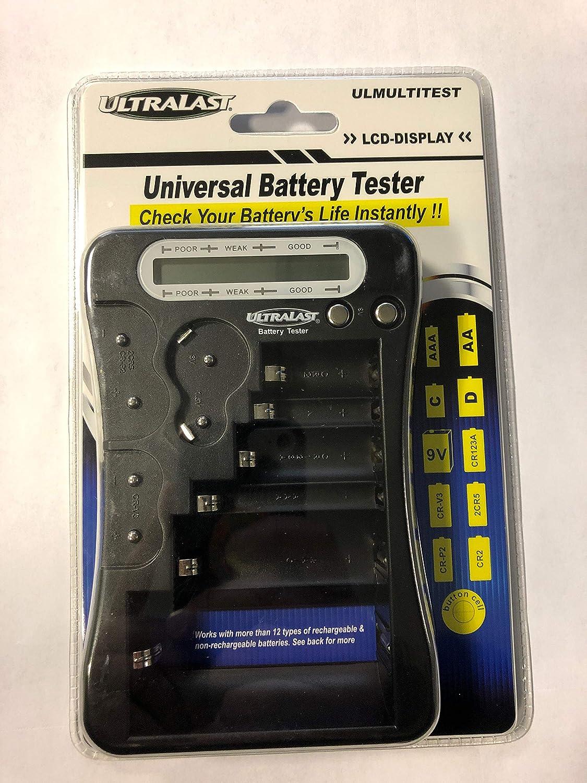 ULTRALAST ULMULTITEST Universal Battery Tester, Black, Standard