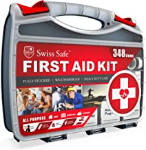 2-in-1 First Aid Kit (348-Piece) 'Double-Sided Hardcase' + Bonus 32-Piece Mini Kit: Perfect for Home & Workplace Safety [5...
