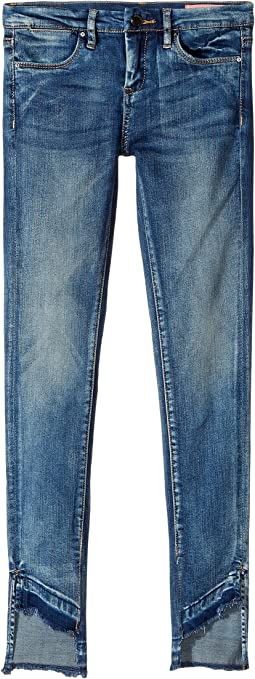 Denim Skinny with Bottom Detailing in Coffee Nap (Big Kids)