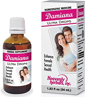 Damiana Ultra Drops for Female | Highest Potency and Purity on The Market | 1.83 Fl oz | for Weight Management,Libido,Energy and Vitality. Homeopathic Medicine