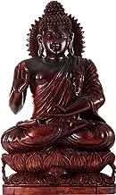 Tibetan Preaching Buddha Perched on a Lotus - Wood Statue