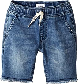 Hudson Kids - Denim Pull-On Shorts in Dry Blue Wash (Toddler/Little Kids/Big Kids)