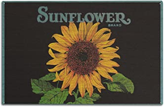 Lantern Press Sunflower Brand Crate Label (10x15 Wood Wall Sign, Wall Decor Ready to Hang)