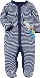 Carters Baby Boys Striped Snap up Rocket Sleep and Play...