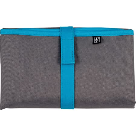 "J.L. Childress Full Body Portable Baby Changing Pad, Fully Padded for Baby's Comfort, Waterproof, Opens to 19"" x 30"", Grey/Teal"
