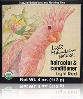 Best Hair Color & Conditioner- Light Red Light Red Light Mountain 4 oz Powder Review