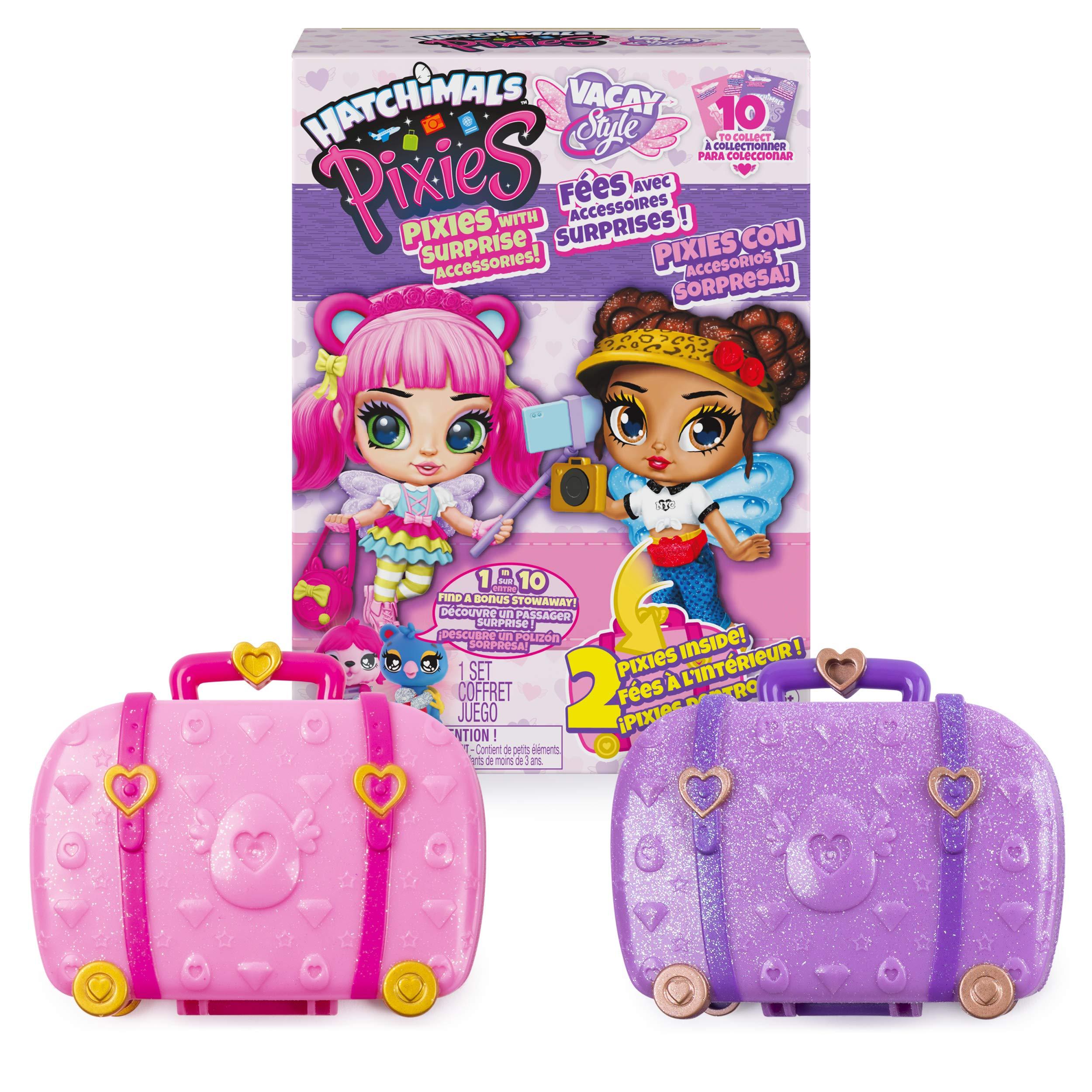 해치멀 픽시 2팩 Hatchimals Pixies 2-Pack, Vacay Style 25-Inch Surprise Collectible Dolls and Accessories (Styles May Vary)