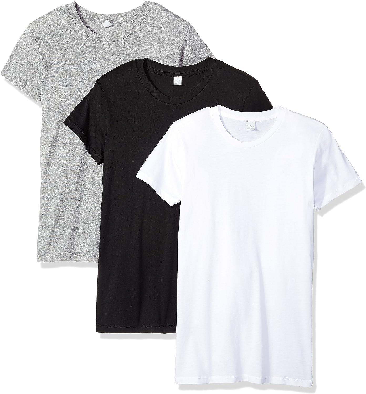 Alternative Womens Basic Crew Neck 3 Tees Set TShirt