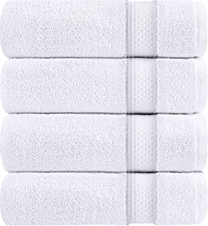 Utopia Towels Luxury White Bath Towels, 27x54 Inch, 700 GSM Hotel Towels, White