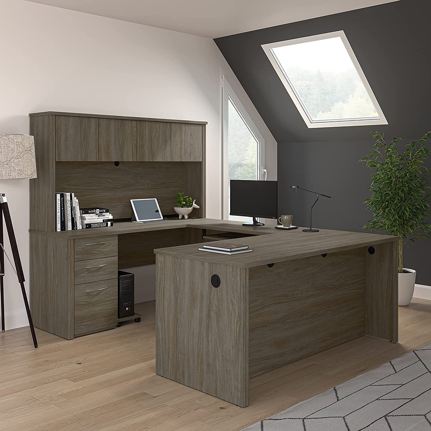 Bestar Embassy Collection Modern Save money L or Office Bargain sale U-Shaped Executive