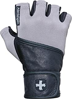 Harbinger Men's Classic Wrist Wrap Glove with Leather Palm (Pair)
