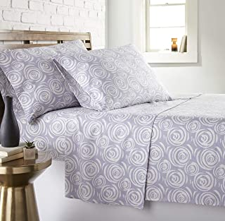 Southshore Fine Living, Inc. The Vilano Choice Collection Sheet Sets, Whimsical Swirls Lavender, California King
