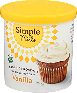 Simple Mills Organic Vanilla Frosting with Coconut Oil, Birthday Cake Frosting, Made with whole foods, (Packaging May Vary)
