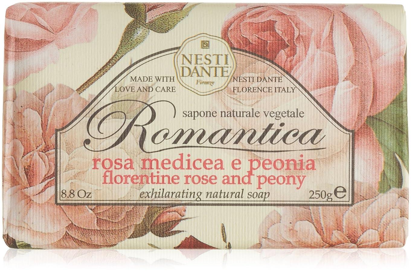 包帯オンサーフィンネスティダンテ ロマンティカソープ ローズ&ピオニー 250g