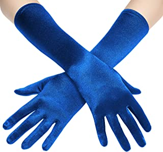 BABEYOND Long Opera Party 20s Satin Gloves Stretchy Adult Size Elbow Length 20.5""
