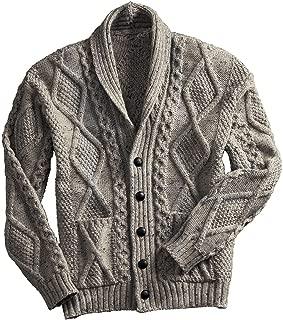 100% Irish Merino Wool Men's Shawl Neck Cardigan Sweater with Pockets | Made in Ireland