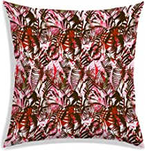 RADANYA Tropical Leaves Throw Pillow Cover Decorative Pillows Square Cushion Covers Sofa Home Décor Polyester 12 X 12 Inch...