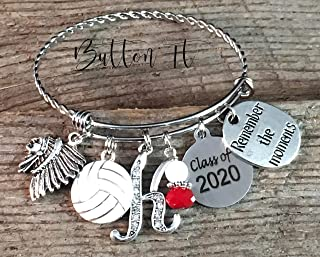 BANGLE bracelet, Senior night, Senior 2020, SENIOR Gift, Cheer bracelet, Class of 2020, CHARM bracelet, Volleyball, Dance, graduation gift, graduate