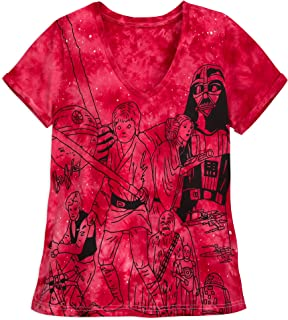 Star Wars Tie-Dye T-Shirt for Women Red