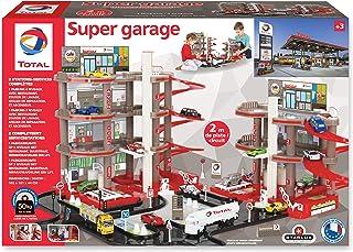 Total STARLUX Garage avec Station Service Complète – Dès 3 Ans – Fabrication Européenne (Double Garage)