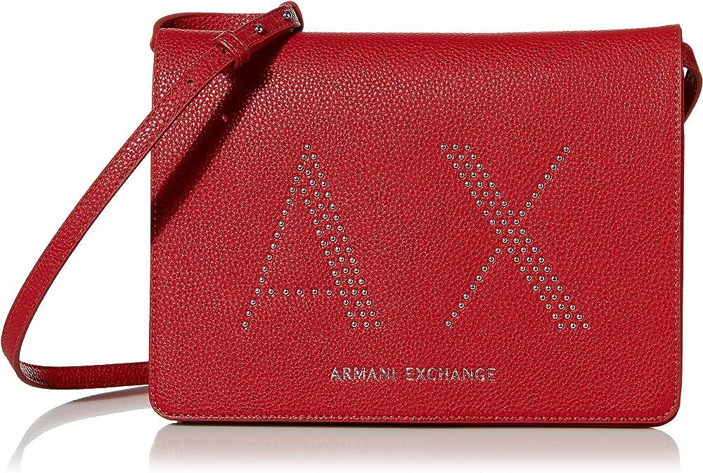 Armani exchange, borsa a tracolla per donna,in pelle sintetica 942622CC28431974