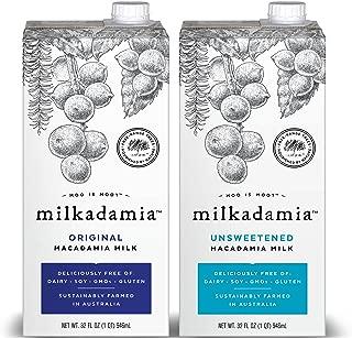 Milkadamia Variety Pack, Macadamia Milk, 32 Ounce  (Pack of 6)
