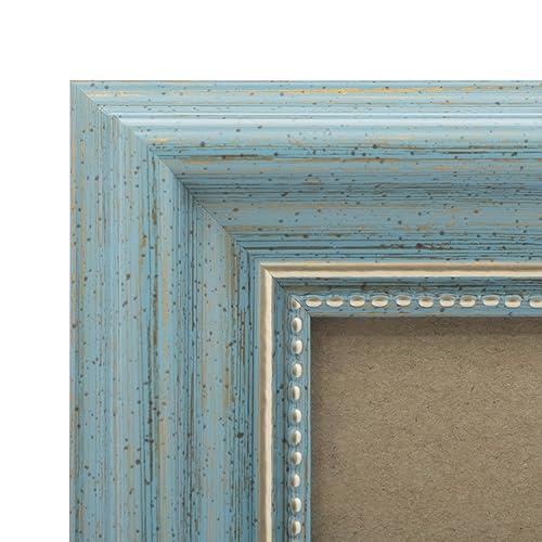 dc63118ca6 5x7 Picture Frame Antique Teal - Mount Desktop Display