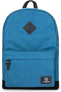 SEVENTEEN LONDON – Zaino moderno e semplice in color tè blu con una base di camoscio finto nero ed una tasca nascosta RFID...