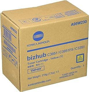 Konica-Minolta TNP-49Y Yellow Toner Cartridge for USE in BIZHUB C3351 C3851FS ES
