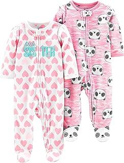 Simple Joys by Carter's 2-Pack Fleece Footed Sleep and Play Bebé-Niñas, Pack de 2
