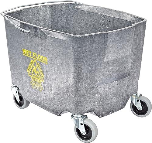 "Impact 2635-3G Polyethylene Mop Bucket with 3"" Casters, 26-35 qt Capacity, 18-3/8"" Length x 15-15/16"" Width x 14"" Hei..."