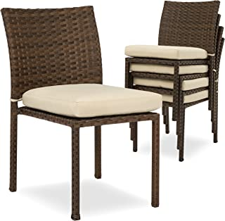 Swell Amazon Com Wicker Patio Dining Chairs Chairs Patio Spiritservingveterans Wood Chair Design Ideas Spiritservingveteransorg